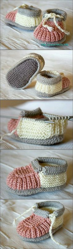 Child Knitting Patterns 40 + Knit Child Booties with Sample – Mais Baby Knitting Patterns Supply : 40 + Knit Baby Booties with Pattern – … by Baby Knitting Patterns, Knitting For Kids, Knitting Projects, Knitting Socks, Crochet Patterns, Baby Booties Knitting Pattern, Sweater Patterns, Crochet Baby Shoes, Crochet Baby Booties