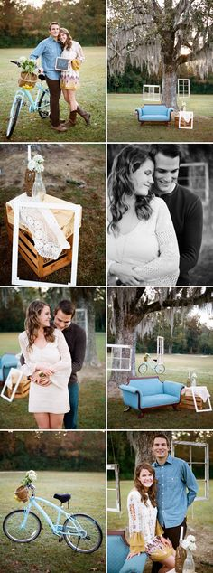 love the old windows/picture frames hanging from the tree..going to do this for photos of my kids