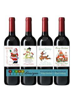 10 Best Wine Bottle Labels Images Christmas Wine Bottle Labels