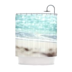Now you can bring the peace of gently crashing waves to your bath with this photorealistic shower curtain. With a soft-focus image of waves foaming on shore, you can let yourself be washed away to a mo...  Find the Washed Ashore Shower Curtain, as seen in the Shower Curtains Collection at http://dotandbo.com/category/bed-and-bath/bath/shower-curtains?utm_source=pinterest&utm_medium=organic&db_sku=KES0034
