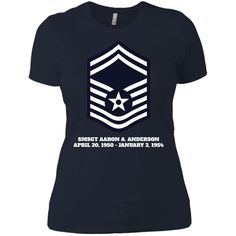 Air Force Senior Master Sergeant Rank Next Level Ladies' Boyfriend Tee