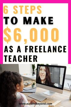Find out how you can become a freelance teacher! An online teacher can make $6,000 easily every month working from home! Make extra money with a remote job and live debt free working remotely! Online Teaching Jobs, Teaching Resources, Online English Teacher, Companies Hiring, Job Website, Job Work, Debt Free, Work From Home Jobs, Extra Money