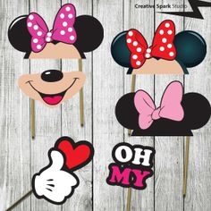 Minnie Mouse Photo Booth Party Props  Great by CreativeSparkStudio, £5.00