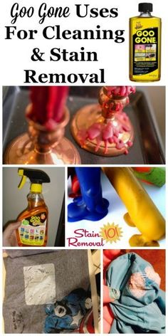 Here is a round up of tips and uses for Goo Gone within your home, for both cleaning and stain removal. Find out all the ways you can use this product here, for the really tough to remove messes {on Stain Removal 101} #GooGone #StainRemover #CleaningProducts Deep Cleaning Tips, House Cleaning Tips, Spring Cleaning, Cleaning Hacks, Cleaning Supplies, Laundry Supplies, Laundry Tips, Goo Gone, Clean Baking Pans