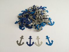 Hey, I found this really awesome Etsy listing at https://www.etsy.com/listing/223831860/100-assorted-blue-and-grey-anchor