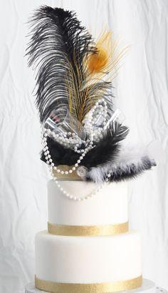 Roaring / Gatsby Cake Topper Etsy listing at… Great Gatsby Theme, Gatsby Themed Party, Gatsby Wedding, Art Deco Wedding, Wedding Music, Wedding Ideas, 30th Birthday Parties, 60th Birthday, Birthday Ideas