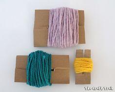 Easy cardboard pom pom makers