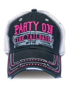 Farm Girl Party On The Tailgate Mesh Cap