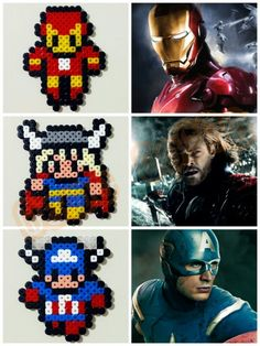 Marvel Comics characters hama perler beads by Love Cupcoonka - www.facebook.com/hamabeadshobby