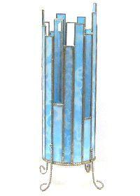 14C-BCT:ブルークリスタルタワーH34cm/ 型紙付き* - オリジナル型紙付き [ステンドグラスサプライ・ネットショップ]
