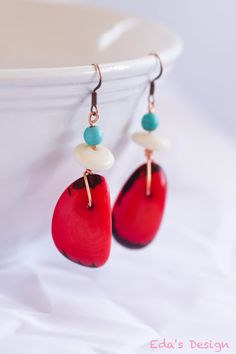FREE SHIPPING! Cool Native American style earrings. They're perfect for the Summer!