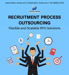 Recruitment Process Outsourcing (RPO) - Million Minds provides customized recruitment processing outsourcing solutions & rpo services that delivers business results. Enquire today for recruitment outsourcing process in India. Recruitment Services, Hiring Process, Human Resources, Business Branding, Mumbai, Flexibility, Mindfulness, Meet, Group