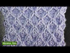 Punto (puntada) de PANAL o de Abeja. Tutorial de tejido con dos agujas # 514 - YouTube