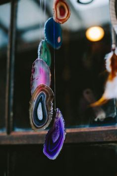 Agate windchime via Earthbound Trading Company  An easy DIY? Find lots of agate on amazon, etsy, and ebay!