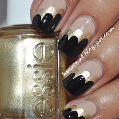 love this nude, gold and black nail art www.lab333.com  https://www.facebook.com/pages/LAB-STYLE/585086788169863  http://www.labstyle333.com  www.lablikes.tumblr.com  www.pinterest.com/labstyle
