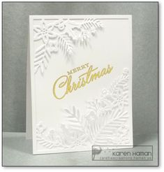 Carefree Creations | Christmas White Foliage | http://carefreecreations.haman.us