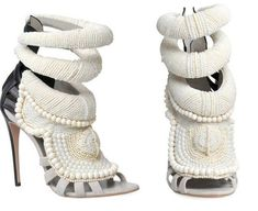 beaded peep toe heels!!  designed by Kanye West for Giuseppe Zanotti