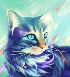 Purple Cat Diamond DIY Painting Embroidery Cross Stitch Kit Craft Home Decor in Crafts, Needlecrafts & Yarn, Embroidery & Cross Stitch Purple Cat, Blue Cats, Cat Embroidery, Kit Pintura, Cat Colors, 5d Diamond Painting, Cross Paintings, Diamond Art, Cat Drawing