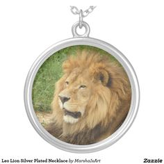 Leo Lion Silver Plated Necklace