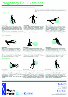 A helpful information sheet on exercises to do with your pregnancy ball.