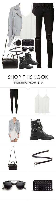 """""""Untitled#4505"""" by fashionnfacts ❤ liked on Polyvore featuring rag & bone/JEAN, MANGO, Acne Studios, Giuseppe Zanotti, Yves Saint Laurent, Retrò and Alexander McQueen"""