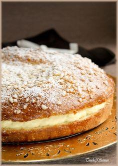 Recette la tropézienne par Souade : Cette tropézienne est un pur délice avec une pâte à brioche trop bonne et une crème légère et onctueuse délicieusement parfumée à la vanille ! Ce qui m'a tenté dans cette recette, c'est surtout la...