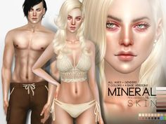 Mineral realistic skin for The Sims 4