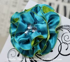 Ribbon Flower Tutorial  from Danielle Daws by noreply@blogger.com (Danielle Daws)