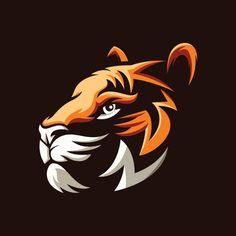 Awesome tiger head illustration design P. Tiger Art, Tiger Head, Jaguar Logo, Art Tigre, Logo Esport, Game Logo Design, Desenho Tattoo, Retro Logos, Animal Logo