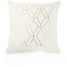 Elise & James Home™  Moroccan Tile Decorative Pillow ($20) ❤ liked on Polyvore featuring home, home decor, throw pillows, pillows, white, white throw pillows, colored throw pillows, white accent pillows, white home decor and white toss pillows
