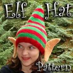 44a64eb7af9 Peculiar Ambitions~  Free Elf Hat Pattern~! Christmas Crafts For Adults