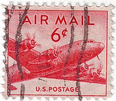 US Stamp - air mail Old Stamps, Rare Stamps, Vintage Stamps, Stamp Values, Value Of Stamps, Price Of Stamps, Postage Stamp Design, Going Postal, Cards