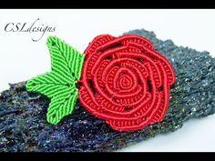 ▶ Micro macrame rose | Valentines - YouTube