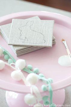 DIY Easy Bunny Coasters