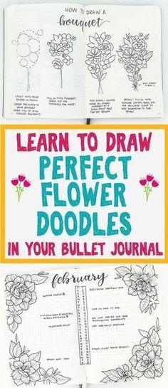 Step by step planner doodles for bullet journal decoration