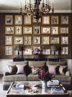 uniqueshomedesign:  gold gallery wall charisma design