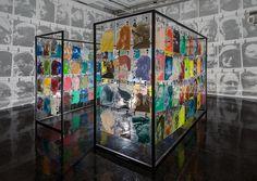 "VCU professor Bohyun Yoon's ""Neighbors"" installation is on view at VCUarts Anderson Gallery through Dec. Fireflies In A Jar, Modern Home Interior Design, Shadow Art, Famous Art, Display Design, Design Museum, Heart Art, Female Art, Light In The Dark"