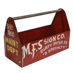 Folk Art Sign Painter's Tool Box | From a unique collection of antique and modern signs at http://www.1stdibs.com/furniture/folk-art/signs/