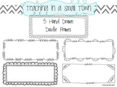 doodle frames__ideas for you! from: http://teachinginasmalltown.blogspot.com/
