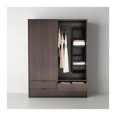 TRYSIL Wardrobe w sliding doors/4 drawers  - IKEA