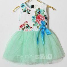 'Mint Floral' Tutu Dress from my mini MODA