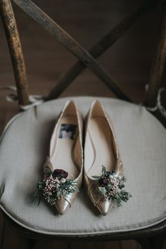 Flower Adorned Bridal Flats