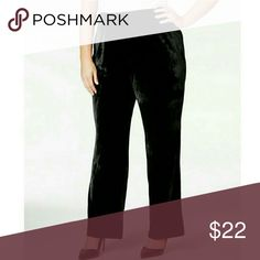 Ny collection plus size bootcut leg velvet pants NY Collection Plus Size Bootcut-Leg Velvet Pants  Take on special events in high style with NY Collection's plus size velvet pants. Pair them with everything from ultra-feminine blouses to sparkly sweaters.    Imported  High rise: waistband sits at or above natural waist  Easy fit through hips and thighs   Bootcut leg  Pull-on styling; banded waist with elastic   Soft, plush velvet  Approximate inseam: 31 inches NY Collection Pants