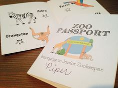 Free printable for a super-easy-to-assemble Zoo Passport!