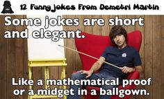 12 Funny Jokes From Demetri Martin