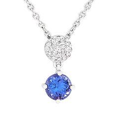 18 carat white gold diamond and tanzanite pendant and chain Tanzanite Pendant, White Gold Diamonds, Pendants, Pendant Necklace, Jewels, Chain, Jewerly, Hang Tags, Necklaces