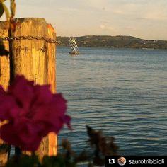#Repost @saurotribbioli  Dal pontile al tramontar del sole....#trasimenolake#Umbria#instatravelingram#instagram#passignano#instagold#