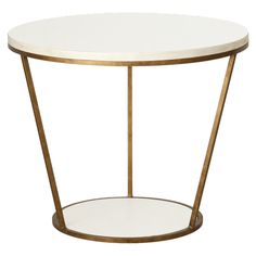 Blair Round Side Table - For the Mid-Century Mod or Earth-Toned Living Room