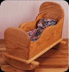 Bp 1 - Country Cradle - Woodcraft, Scroll Saw Pattern, Woodworking Plan