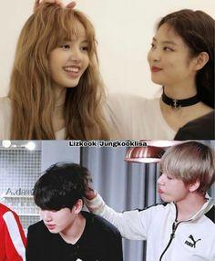 Vkook Memes, Blackpink Memes, Blackpink Photos, Girl Photos, K Pop, Ariana Grande Gif, Chaeyoung Twice, Kpop Couples, Korean Couple